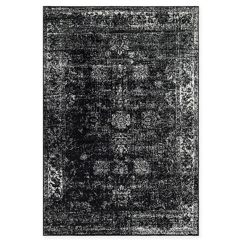 Unique Loom Sofia Floral 6 X 9 Area Rug In Black Area Rugs Floral Rug Rugs