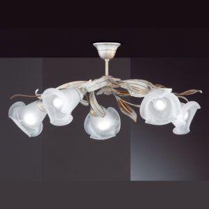 Deckenleuchte Weiss Antik Und Goldfarbig Mit 5 Schonen Blumenstrahlern Mit Bildern Beleuchtung Decke Deckenlampe Lampen