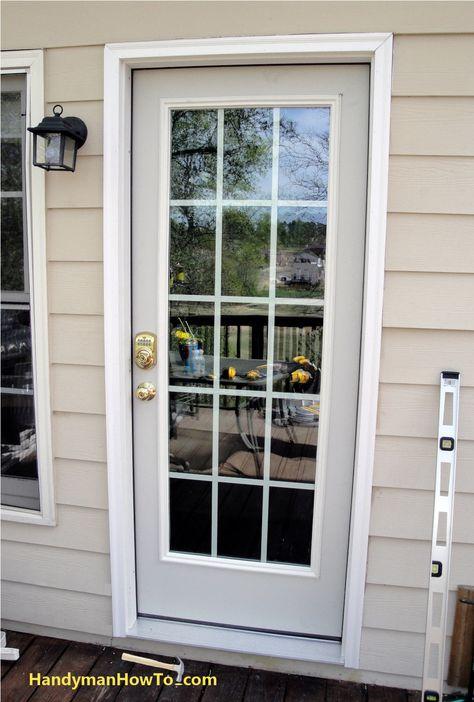 Exterior Door With New Brick Mould Front Porch Exterior