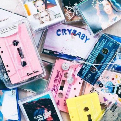 Modern albums on cassette tapes // Melanie Martinez Crybaby & Halsey Badlands