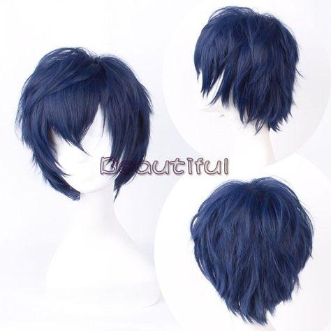 Jigoku Shoujo Enma Ai Anime Costume Cosplay Wig Track Number Wig Cap