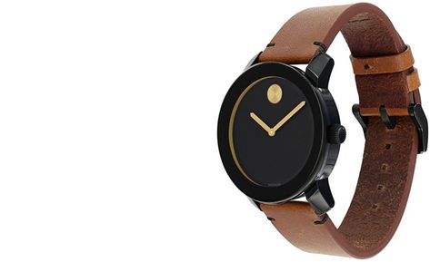 391af4e3d Movado Unisex Swiss Bold Rustic Brown Leather Strap Watch 42mm 3600305 - Men's  Watches - Jewelry & Watches - Macy's