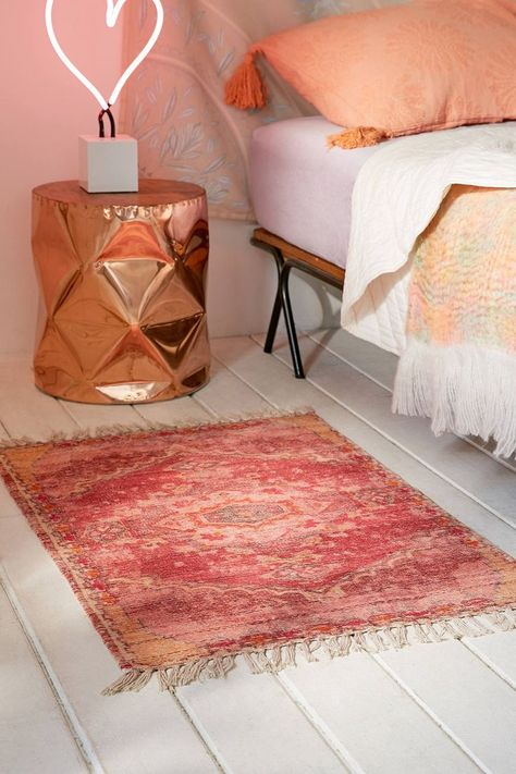 Zelda Kilim Printed Chenille Rug Crystahhled S Rose Gold Obsession