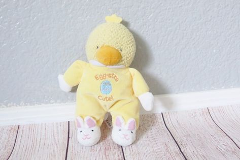Baby Starters Duck Egg Stra Cute Yellow Easter Chick Plush Rattle