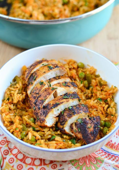 Slimming Eats Spanish Chicken and Rice. Trying this tonight! Wish me luck!