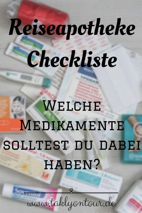 Eine Reiseapotheke Checkliste Zum Ausdrucken Apotheke