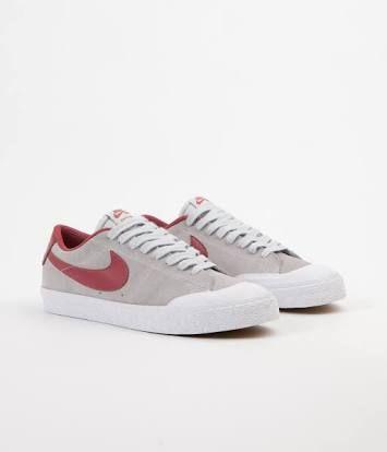 Nike Sb Blazer Zoom Low Xt Pure Platinum Cedar White Shoes World Sneakers Nike Nike