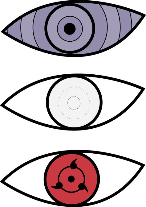 Rinnegan Sharingan Byakugan Naruto Eyes Anime Eyes Naruto Drawings