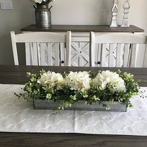 Farmhouse Living Room Decor Hanging Planter With Greenery Or Etsy Farmhouse Table Centerpieces Dining Room Centerpiece Table Centerpieces For Home