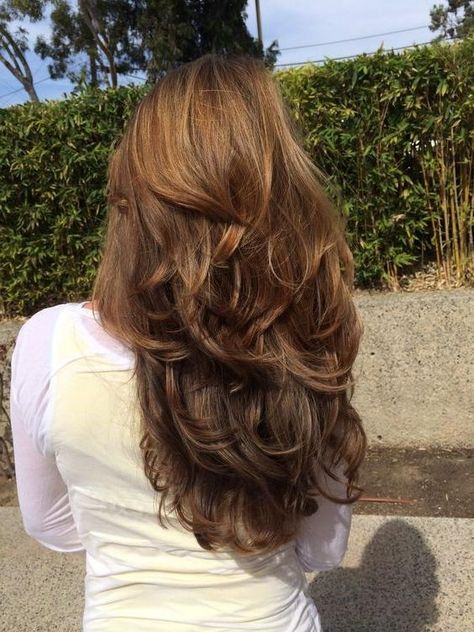 84 fun layered haircut ideas for long . 84 fun layered haircut ideas for long hair Long Brown Hair, Long Hair Cuts, Wavy Hair, Brown Layered Hair, Face Shape Hairstyles, Cool Hairstyles, Gorgeous Hairstyles, Hairstyles Haircuts, Wedding Hairstyles
