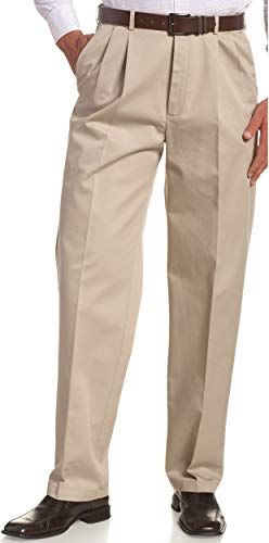 New Haggar Men S Work To Weekend Khakis Hidden Expandable Waist No Iron Pleat Front Pant Khaki 30x32 Online Khaki Pants Men Best Khaki Pants Mens Pants