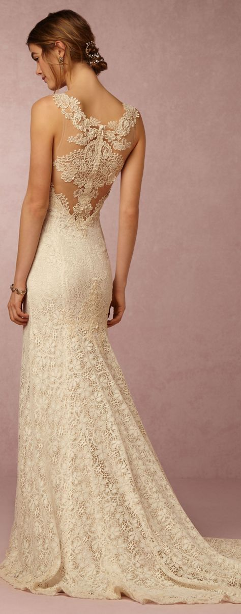 Beautifully embellished wedding gown by bhldn