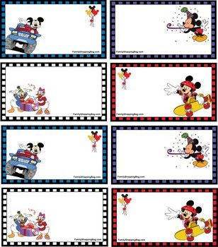 Mickey free printable labels, these can even be used as tags for presents