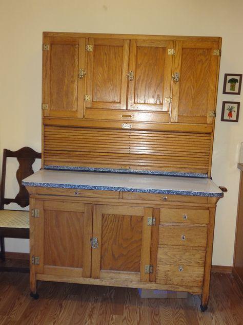 Pin by Nancy on Hoosier Cabinets | Cabinet, Bread drawer ...