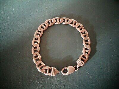 Vintage Italy Sterling 925 Pgda Heavy Duty Cuban Chain Link Bracelet 9 1 4 39 3 In 2020 Chain Link Bracelet Link Bracelets Cuban Chain