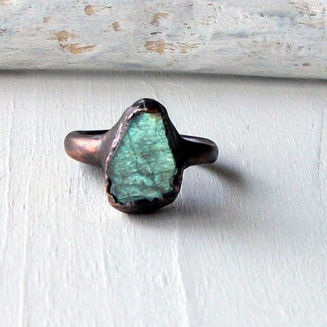 Labradorite Copper Ring Gem Stone Natural Raw Patina Handmade For Her Artisan. this is absolutely amazing
