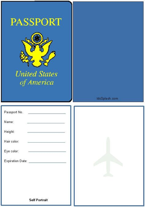 Printable blank passport and all you need to know to host your own - passport template