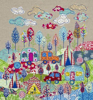 Camping Giclee Print ~ Lucy Levenson (http://www.lucylevenson.com/)