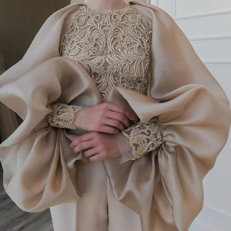 xquisite details on the sleeves of our haute couture jumpsuit. Made using … xquisite details on the sleeves of our haute couture jumpsuit. Made using the finest hand embroidery techniques ⭐️✨