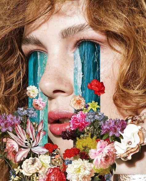 @BeautifulBizarreMagazine posted to Instagram: I am loving everything floral right now! Fabulous collage by @sarashakeel. . . . #beautifulbizarre #SaraShakeel #collage #collageart #florals #surrealart #surrealism #popsurrealism