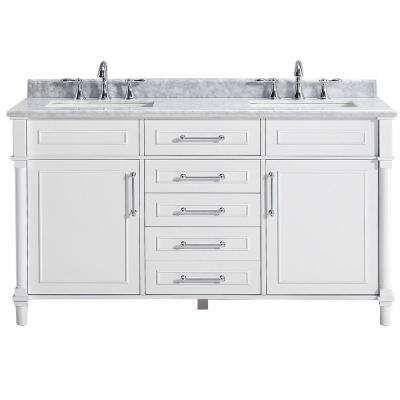 Double Sink Bathroom Vanities Bath The Home Depot Marble Vanity