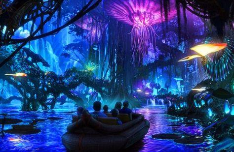Disney Avatar park, Avatar, James Cameron, Pandora, Disney amusement park, Disney animal kingdom park, Disney parks, concept pictures Disney...
