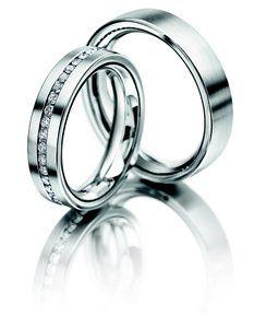 Meister Girello Platinum 950 wedding ring set with 40x diamonds 0.600ct G-VS