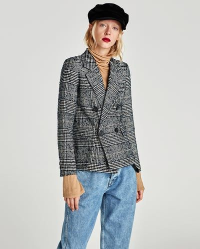 CHECKED DOUBLE BREASTED JACKET SUITS WOMAN | ZARA Bosnia and