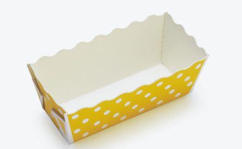 Mini Loaf Pan Yellow Polka Dot