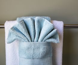 How To Hang Bathroom Towels Decoratively | Bathroom Towels, Towels And Bath Design Ideas