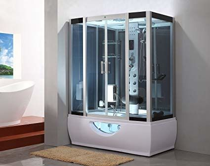 Whirlpool Tub With Shower Enclosure With Images Steam Shower