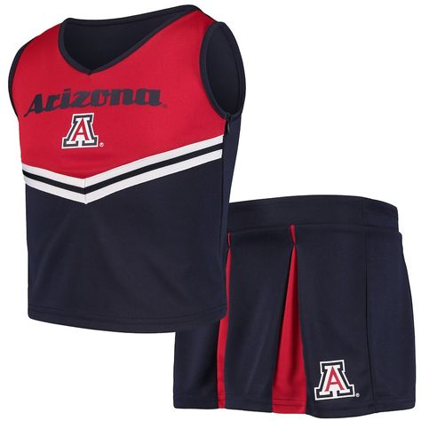 Youth Girls Colosseum Navy Arizona Wildcats Pom Pom Cheer Set, Girl's, Size: Youth XL, ARZ Blue