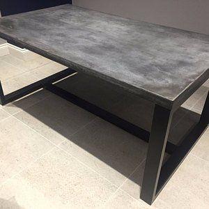 Industriele Metalen Eettafel.Metal Dining Table Legs Set 2 80x40mm Steel Table Legs Iron