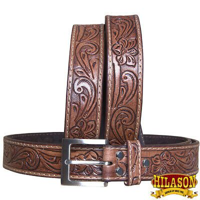 "C-2-38 38/"" Hilason Heavyduty Western Leather Mens  Gun Holster Belt Black"