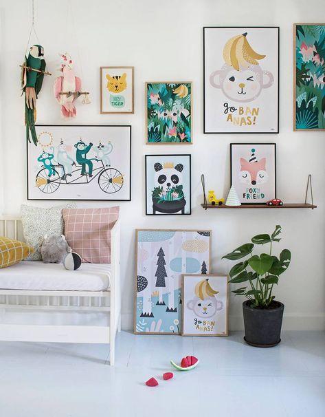Coolest Art For Children S Rooms Lunamag Com Kids Bedroom Decor Kids Room Wall Art Kids Bedroom Designs