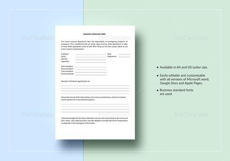 Bank Complaint Form Sample Complaint Form Pinterest