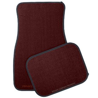 Private Company Property Maroon Car Floor Mat Car Floor Mats Car Mats Car Accessories