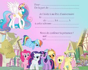 Super carton d'invitation petits poneys( anniversaire ) | Anniversaire  DZ91
