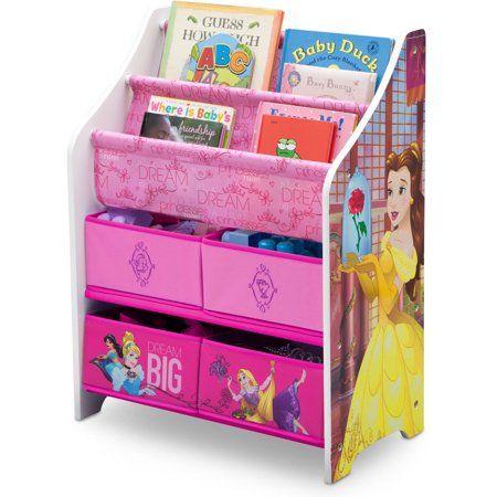 Disney Princess Book Toy Organizer By Delta Children Walmart Com In 2020 Toy Organization Disney Princess Toys Princess Toys