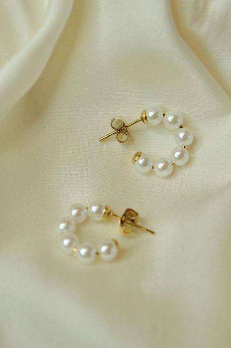 Diamond Earrings / Diamond Studs in Gold / Evil Eye Diamond Earrings / Evil Eye Jewelry / Gold Jewelry / Gift for Her - Fine Jewelry Ideas Cute Jewelry, Bridal Jewelry, Jewelry Gifts, Gold Jewelry, Pearl Wedding Jewelry, Gold Bracelets, Skull Jewelry, Hippie Jewelry, Crystal Wedding