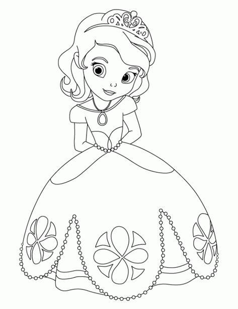 princess sofia the first coloring sheet  disney