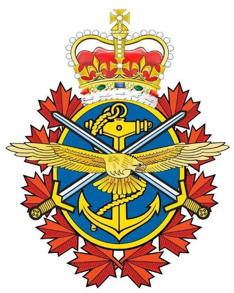 Canadian Armed Forces Trident Also Known As A Corn Flake