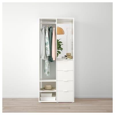 Sundlandet Armoire Ouverte Blanc 79x44x187 Cm Ikea Armoire Ouverte Garde Robe Diy Penderie Ouverte
