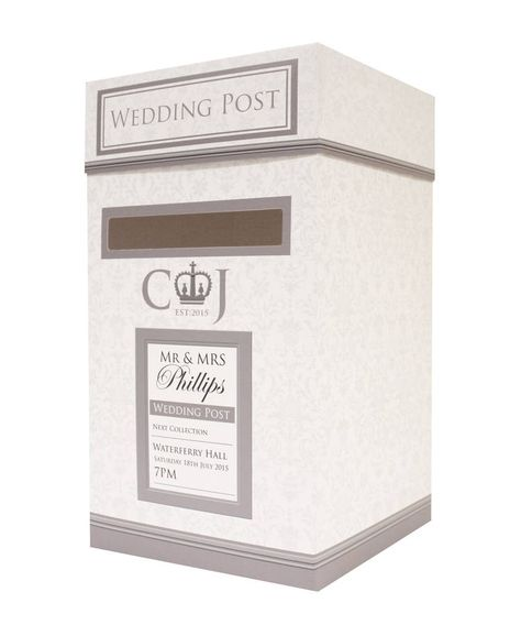 wedding postbox with images  wedding post box