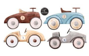 Naklejka Na Sciane Pastelowe Auta Retro Cars 4szt 8350450665 Oficjalne Archiwum Allegro Wooden Toy Car Wooden Toys Toy Car