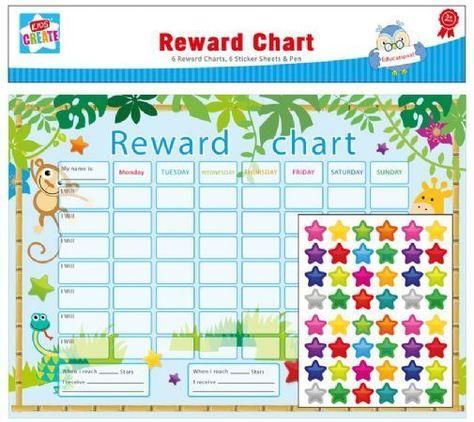 With pen Reward Chart Reusable -UNICORN /& RAINBOW Wipe clean