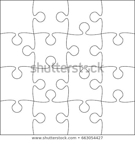 16 White Pieces Background Puzzle Jigsaw Banner Vector