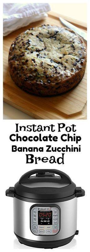 Instant Pot Chocolate Chip Zucchini Banana Bread