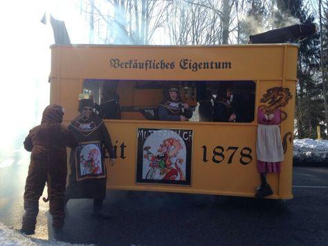 Faschingswagen Bierkasten Karneval Bierkasten