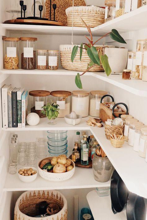 Kitchen Organization Pantry, Diy Kitchen Storage, Home Organization, Ikea Pantry Storage, Ikea Kitchen Pantry, Pantry Diy, Kitchen Pantry Design, Organizing, Kitchen Dining